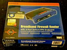 NEW!!  LINKSYS BEFSX41 Broadband Firewall Router w/ 4 Port Switch/VPN Endpoint