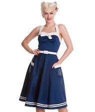 HELL BUNNY Siren 50's Nautical Dress Blue - BNWT