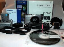 Olympus EPL3 Digital Camera in Boxed with Flash + 15 mm 1:8.0 Lens