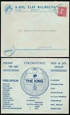 SWEDEN 1931 ADVERTISING ENVELOPE SPORTS FOOTBALL FENCING HORSE RACKETS etc