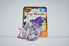 New listing Brand New Purple Plush Mouse Rattle Cat Toy Free Shipping Help Blind Cat Rescue!