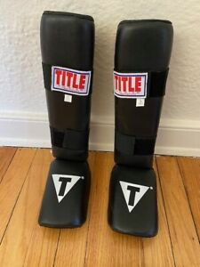 TITLE MMA/Kickboxing Shin/Instep Guards...barely used