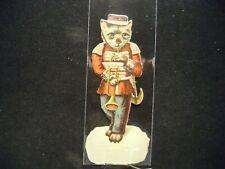 Victorian scrap # 9771 - ANTHROPOMORPHIC - CAT - PLAYING TRUMPET