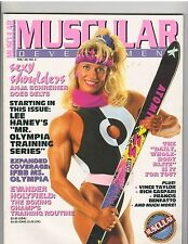 MUSCULAR DEVELOPMENT bodybuilding mag/ANJA SCHREINER/Lenda Murray poster  2-92