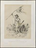 Litografia Di 1859: Battaglia Di Jemappes. Austria, France. Victor Adam