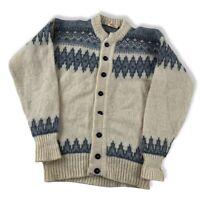 Töting Island Jacke Pullover Gr. XL Herren Schurwolle vintage Faroe Island BN6