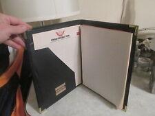 Vintage Hazel Usa Black Portfolio Folder Note Pad 12x 95