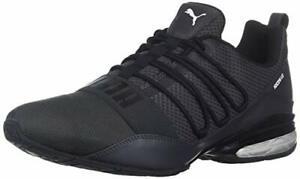 PUMA Men's Cell Regulate Sneaker, Black-Iron gate-Firecracker, 10.5 M US