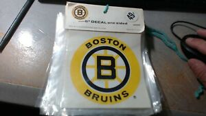 """LOT OF 10 / Vintage 1970's Boston Bruins 5"""" One-Sided Decal Sticker NIP"""