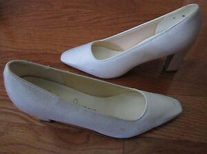 Color-Image - Wedding/Prom Heels (White Colored - Size 8 M) Used & Worn
