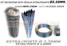 KIT RETE GRIGLIA 50X50 H175CM+PALETTI ZINCATI H200CM PER RECINZIONE COMPLETA