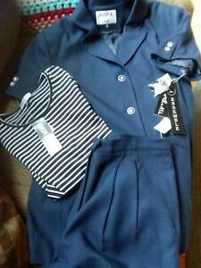 3 pieces Kasper ASL Fully Lined Short Sleeve Jacket Suit size14 - pants size 12