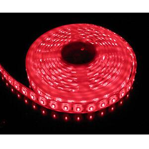 LED STRIP 12V 5M Single Colour Flexible 5050 SMD IP65 WATERPROOF - RED - UK
