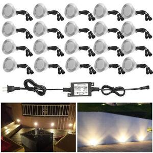 20X61mm IP67 LED Decking Sofit Light Outdoor Garden Yard Stair Lamp + 48W Power