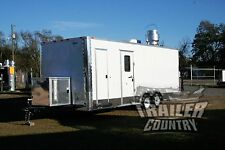 New 8.5X22 8.5 X 22 Enclosed Concession Food Vending Bbq Trailer Mobile Kitchen