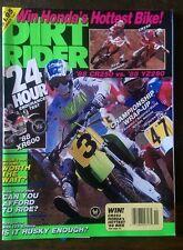 Dirt Rider Magazine November 1987. CR250RJ, Husqvarna WRK125 Enduro, XR600.