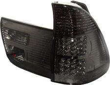 Back Rear Tail Lights Lamps Pair Set Black LED Smoke For BMW E53 X5 00-03