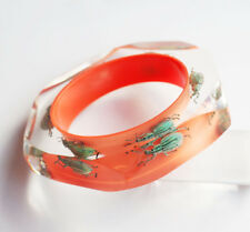 Beautiful exotic bright orange bangle with real insects by Kolos Designs