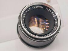 Yashica Yashinon-DX 50mm F1.7 Pentax M42 Screw Lens For SLR/Mirrorless Cameras