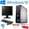 DELL/HP DUAL CORE DESKTOP SFF PC COMPUTER BUNDLE WINDOWS 10,4GB,250GB
