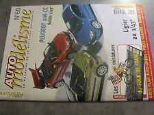 $$n Revue Auto modélisme N°60 Peugeot 206 CC  Tour de France Ligier