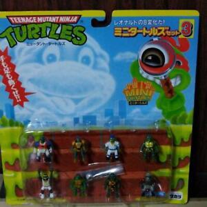 Teenage Mutant Ninja Mini Turtles Set 3 Figure Doll Takara Tomy Rare from Japan