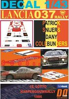 DECAL 1/43 LANCIA 037 RALLY P.SNIJERS HASPENGOUWRALLY 1986 DnF (01)