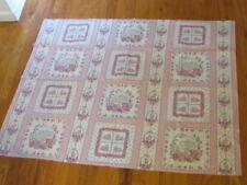 "Pastel Bunny Rabbit Fabric Panel 45x36"" Cut and Sew w/twelve 8"" Quilt Block Aj85"