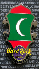 Hard Rock Maledives Hotel Flag Headstock !! NEU !! Ungebraucht auf Backing Card!