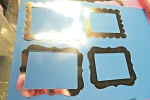 8 Die cut Scalloped edge Frames ideal for framing Card Making Toppers
