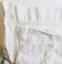 White Cutout Cotton Lace Pillowcase Shabby Country Prairie Cottage Single Case