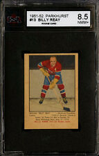 1951-52 PARKHURST #13 BILLY REAY ROOKIE CARD MONTREAL CANADIANS KSA 8.5 NM-MT+