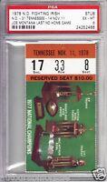 Joe Montana Last College Home Game 1978 Notre Dame v Tennessee ticket stub PSA 6