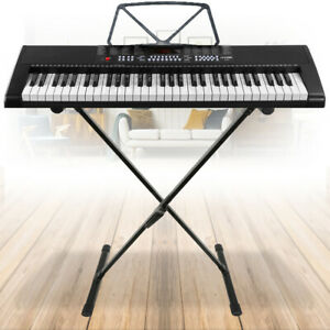KB4 Full Size Electronic Keyboard 61 Key Digital Piano Organ with Stand Set