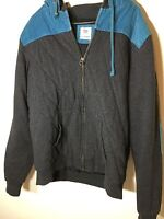 Mens RUSTY Jacket in Grey and Blue (L)