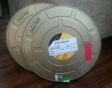 golden CSI MIAMI production Movie Film 2 Metal Reel Cans kodak 1000 ft