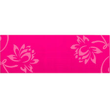 Renew 6mm Pink Yoga Mat with Pink Dahlia Silk-Screened Design with Microban