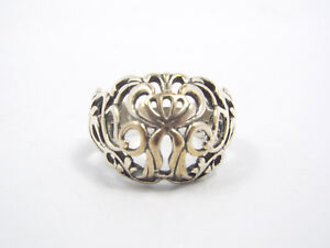 Carolyn Pollack Relios Sterling Silver Open Filigree Dome Ring, size 9.75, 6.7g