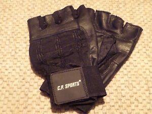 Fitness Handschuh schwarz mit Wristband Gr. XXL