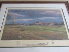 Signed Limited Edition Linda Hartough 18th Hole, Royal Troon Golf Club Craigend