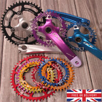 30-52T Chainset Crank 104mm Narrow Wide Single MTB Bike Chainring Sprocket Chain