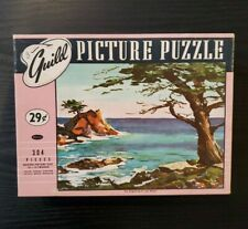 """Vintage Whitman Guild JIGSAW puzzle 304 pcs """"The Outpost"""" Collectible"""