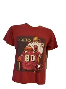 Nutmeg Mills San Francisco 49ers Red Gold Shirt Steve Young Jerry Rice 1999