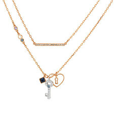 Swarovski Glowing Key Necklace Blue 5273295