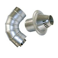 Water Heaters Venting Part Tankless Stainless Steel Low Profile 3 in. x 5 in.