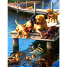 Dogs DIY 5D Diamond Painting Full Drill Embroidery Kits Craft Wall Decor 30x40cm