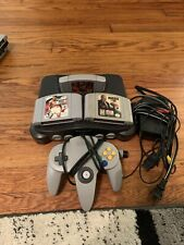 Nintendo 64 N64 Gray Console (NUS-001) Bundle with 3 Games