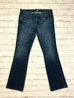 Seven For All Mankind Women's 7's Jeans Size 32-32 Boot Cut A Pocket EUC