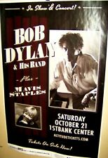 BOB DYLAN & His Band and MAVIS STAPLES in Concert Show Poster Denver Co COOL
