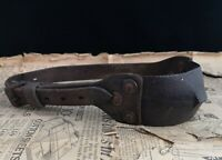 Antique 18th century dog collar, mastiff collar, iron, copper and leather